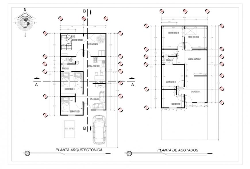 Proposed layout plan design of progressive development House project