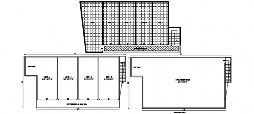 Proposed layout plan drawing details of apartment building dwg file