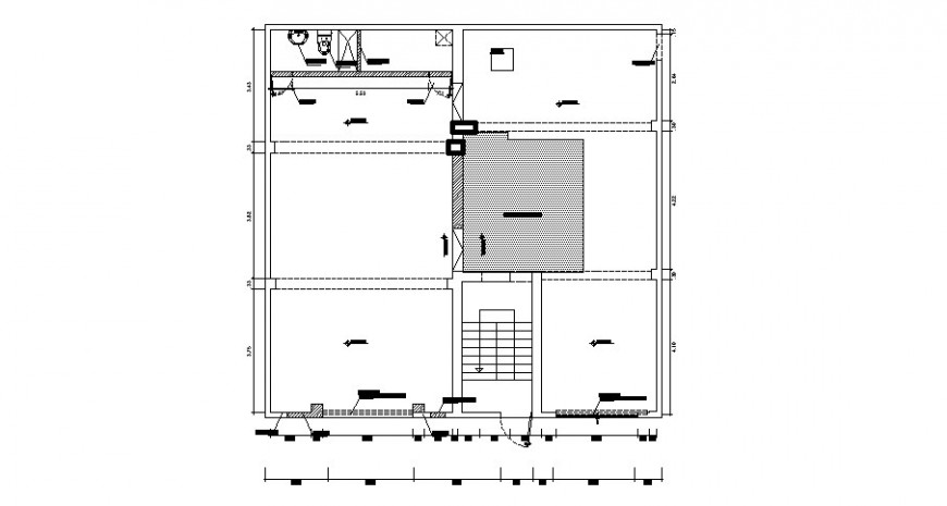 Proposed office floor leveling and plan cad drawing details dwg file