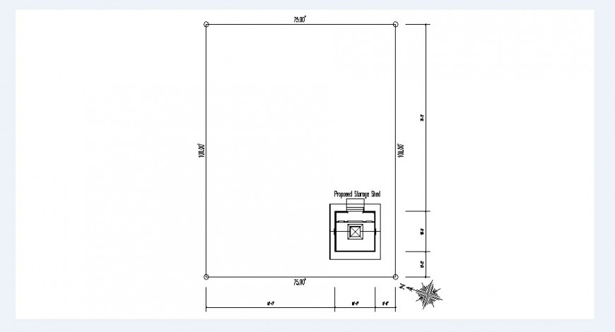 Proposed site plan drawing details of house dwg file