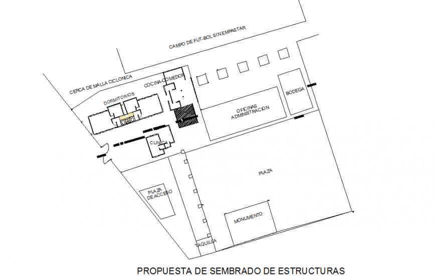 proposed sowing of structures Residential Lay-out detail