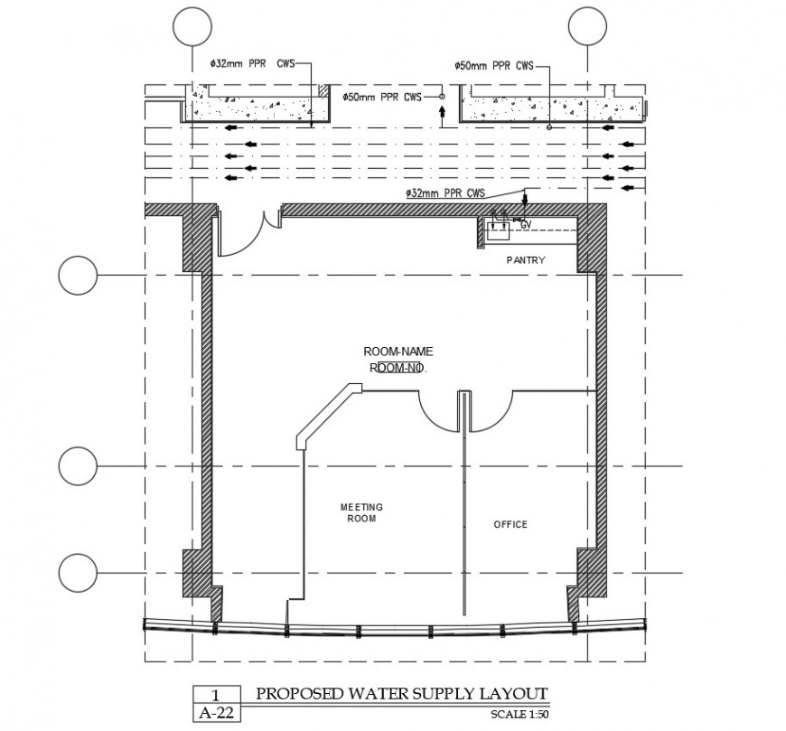 Proposed water supply layout plan autocad software