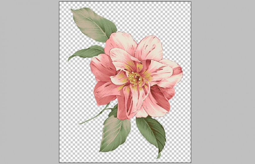 Psd floral print layer drawing in psd file.