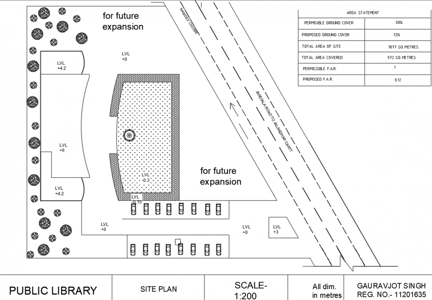 Public library ceiling layout detail drawing in dwg AutoCAD file.