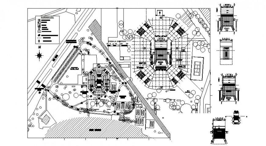 Public park detail 2d view CAD block layout file in autocad format