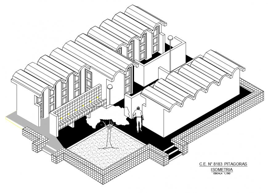 Public toilet hygiene services isometric top view elevation cad drawing details dwg file