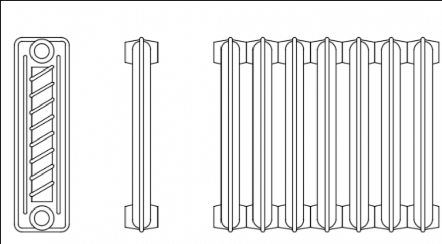 Railing details front view dwg file
