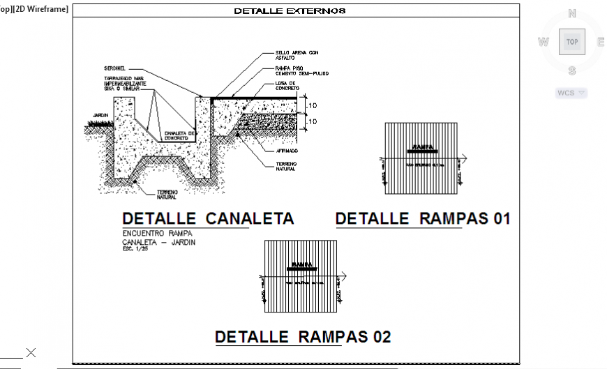 Ramp detail drawing of Hospital design drawing