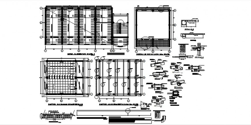 RCC structural blocks drawings 2d view autocad dwg file