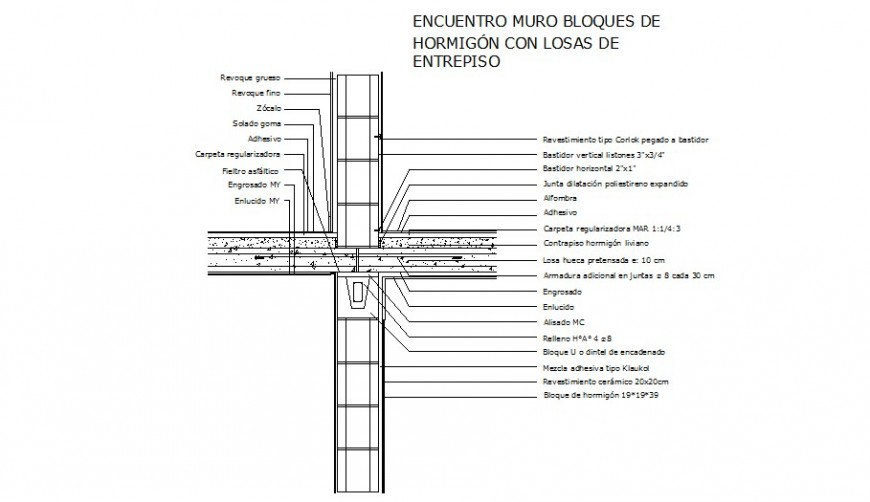 RCC structural unit detail 2d view drawing in Autocad