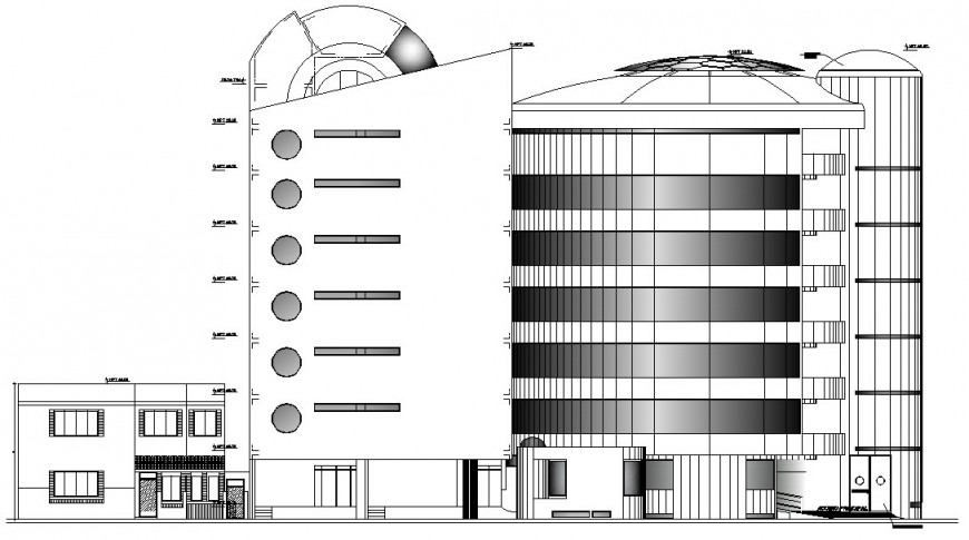Rear side of clinic in auto cad file