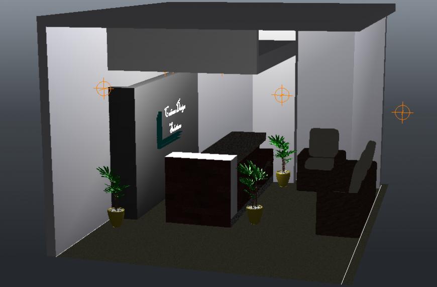 Reception area 3d design
