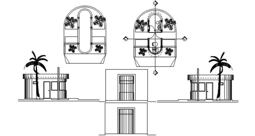 Reception office drawing cad file