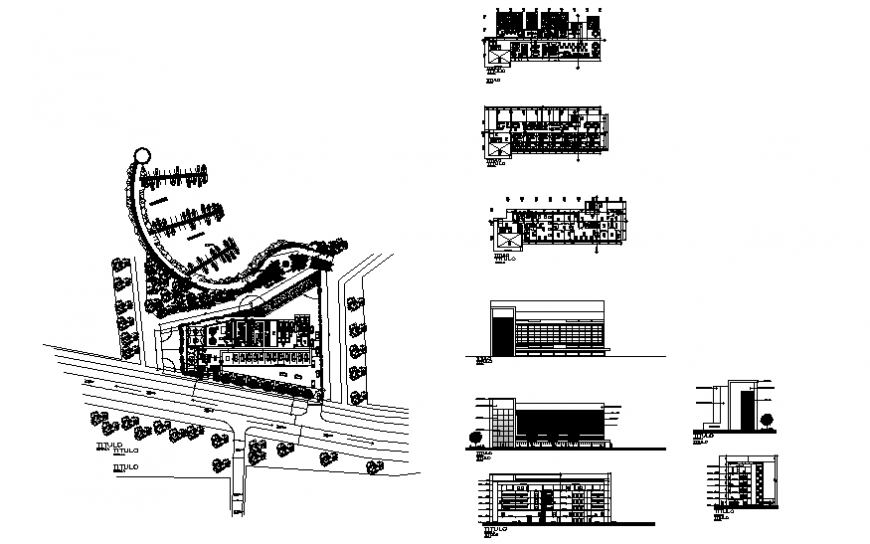 Recovery and rehabilitation centre building drawing in dwg file.