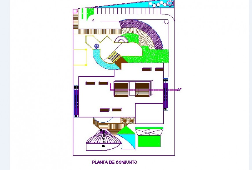 Recovery child club house distribution plan cad drawing details dwg file