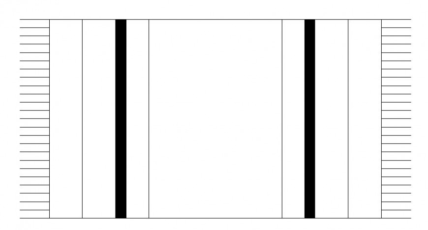 Rectangular carpet plan with house hold block in AutoCAD