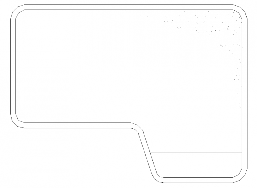 Rectangular pool plan with a detailed dwg file.