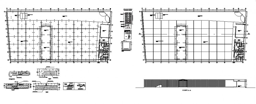 Recycling industrial plant detailed architecture project dwg file
