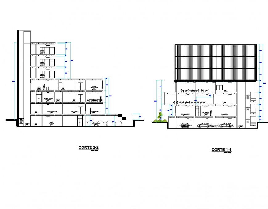 Regional building and parking layout plan