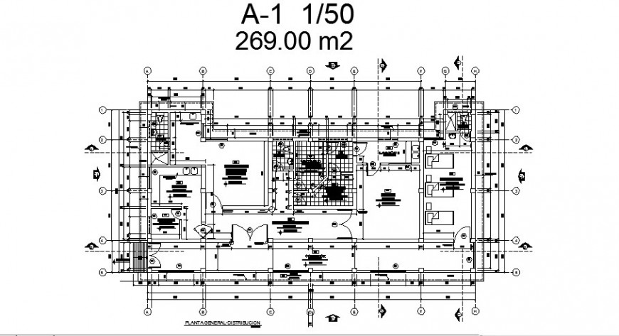 Regional infrastructure management building layout plan cad drawing details dwg file