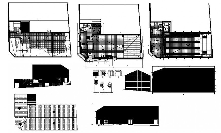 Rehabilitation project details building drawings 2d view autocad file