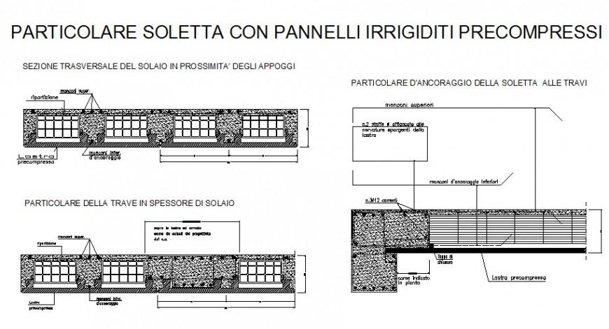 Reinforced concrete cement (RCC) structure details in autocad