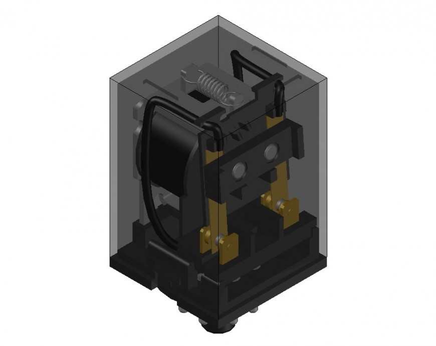 Relay machinery units 3d model drawing in autocad file