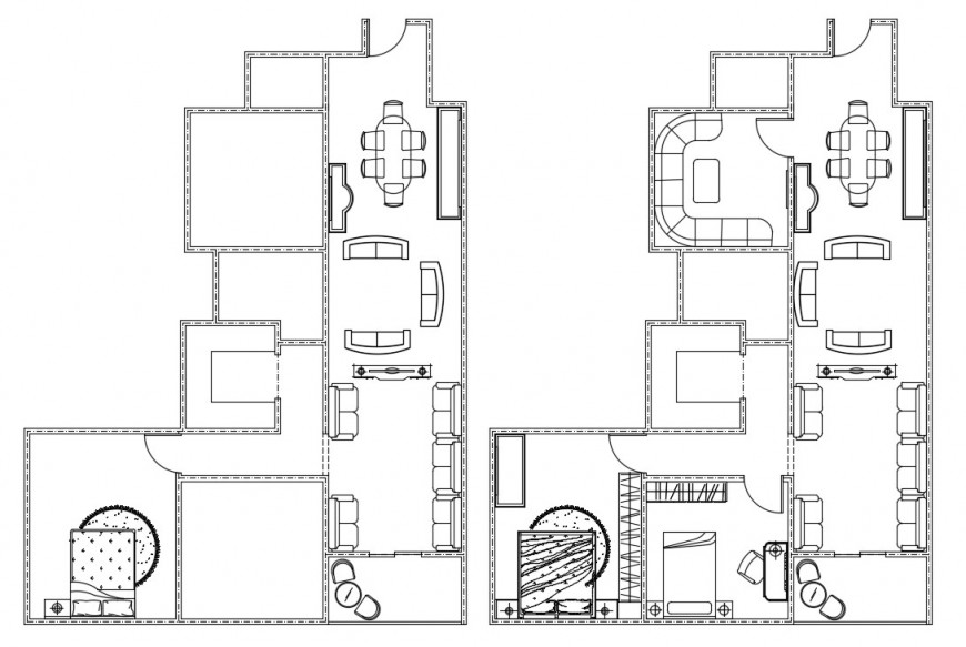 residence apartment layout plan cad file