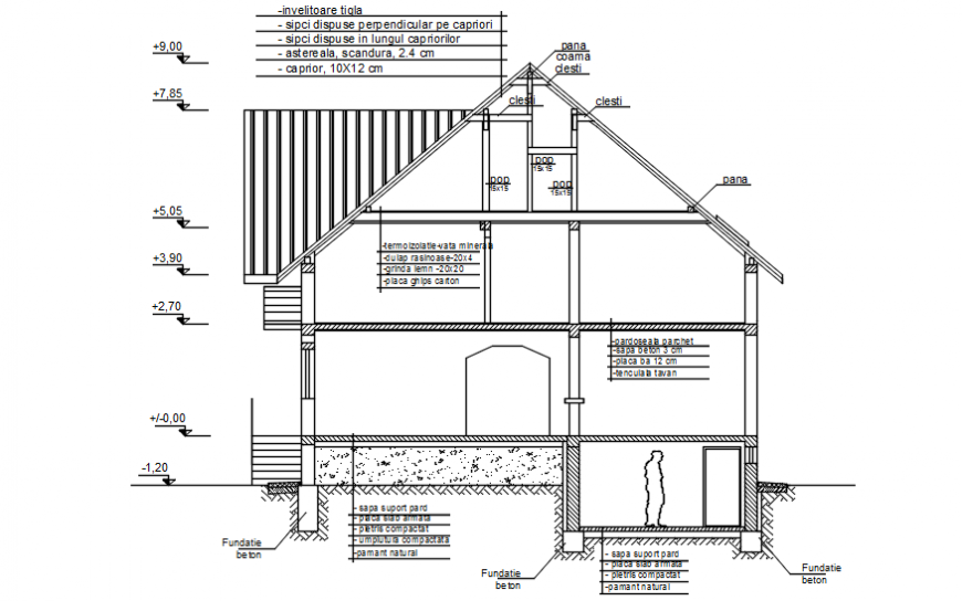 Residence area elevation in AutoCAD software