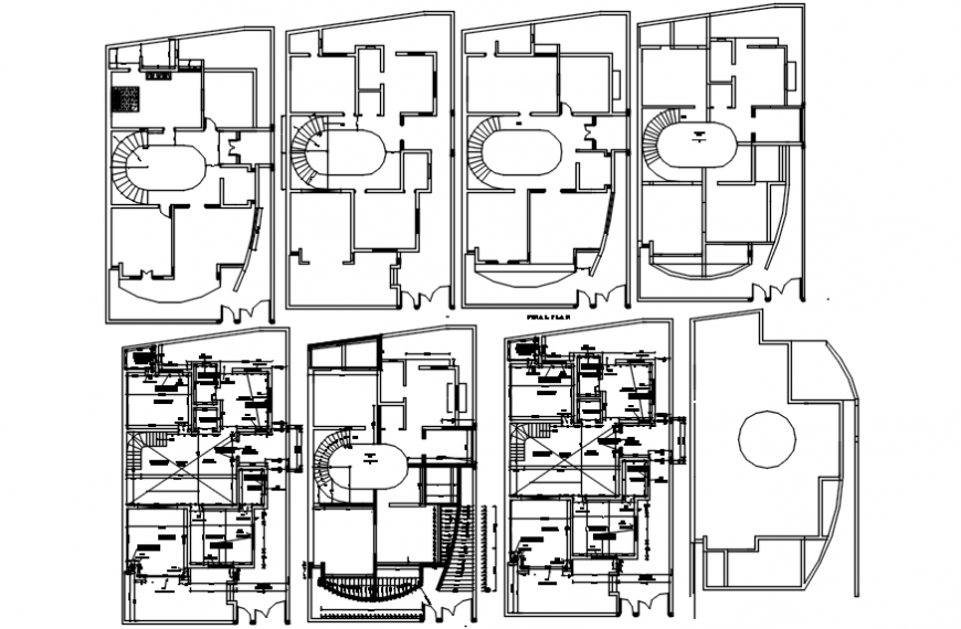 Residence construction detail autocad file