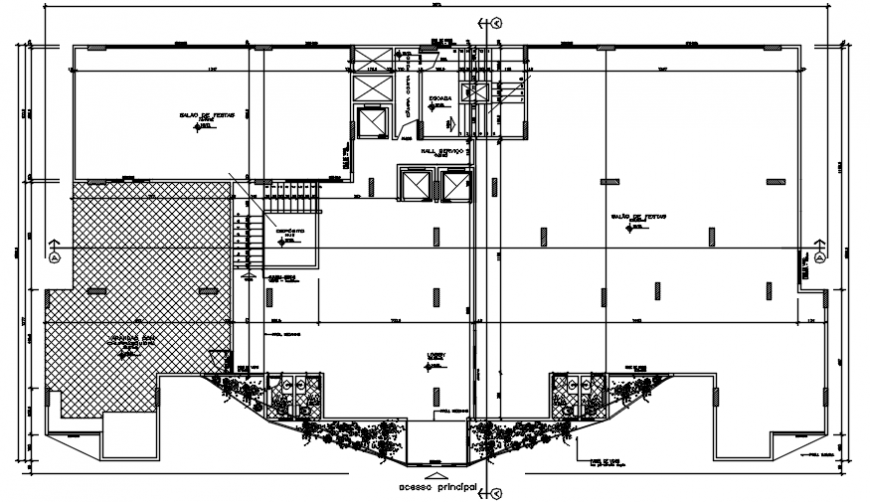 Residential apartment building floor layout plan drawing details dwg file
