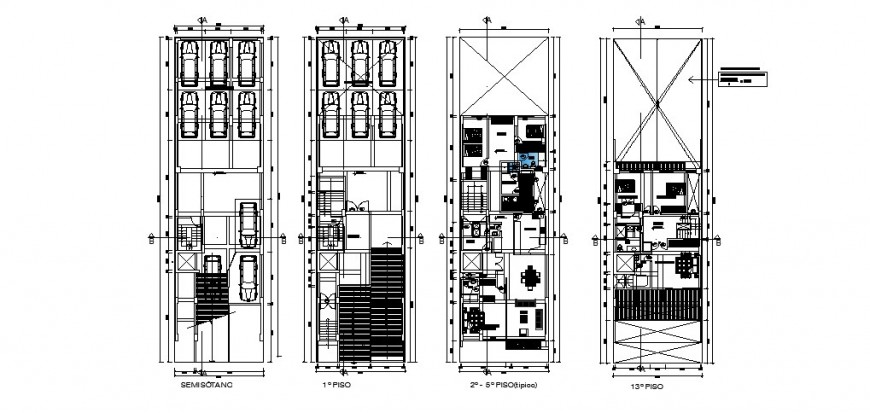 Residential apartment detail 2d view CAD structural block autocad file