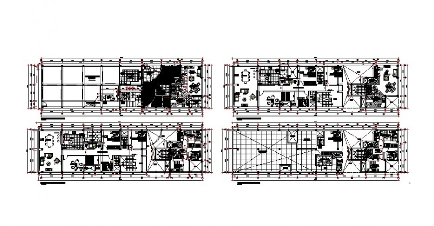 Residential apartment detail working plan drawing in dwg format