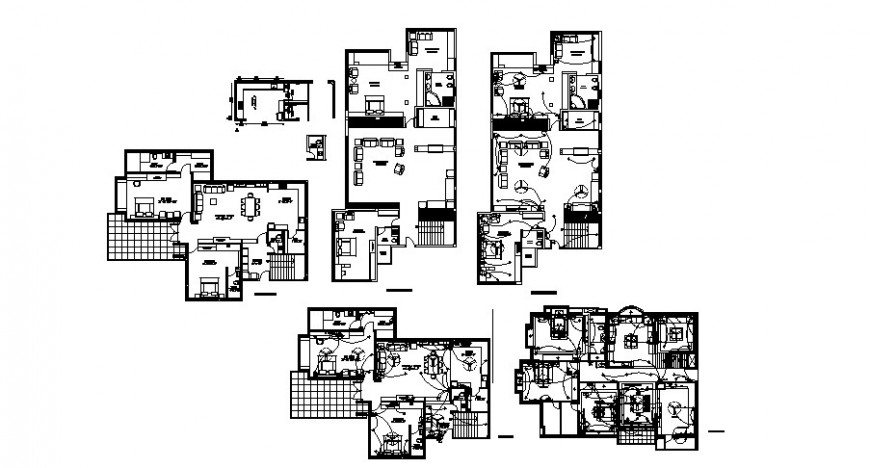 Residential apartment working plan and electrical installation autocad file