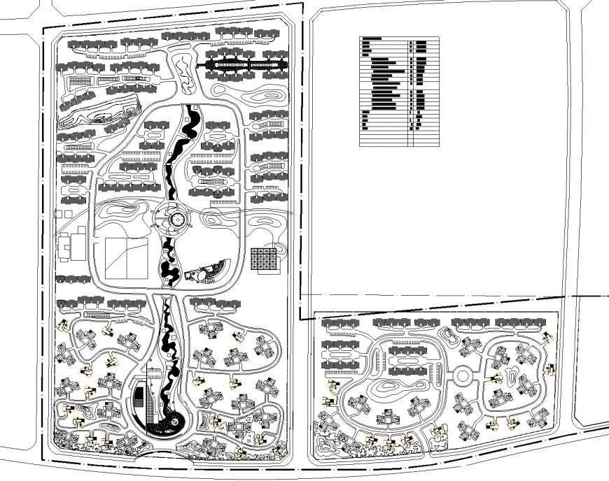 Residential area plan layout autocad file