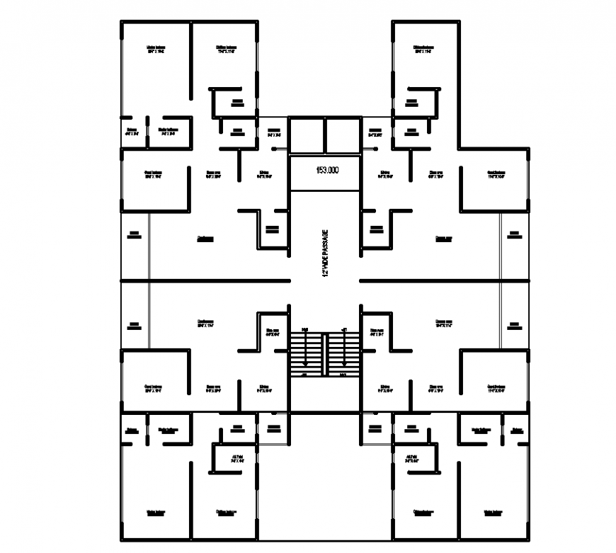 Residential area plan with architecture design dwg file
