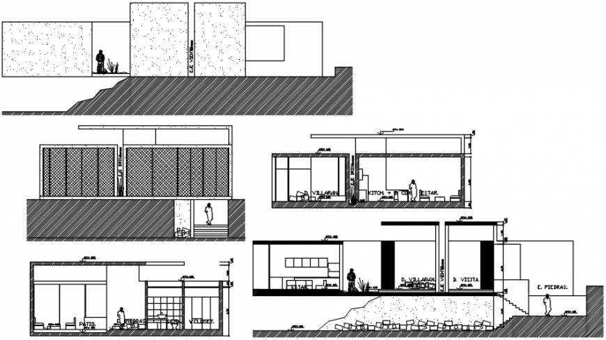 Residential beach house autocad file