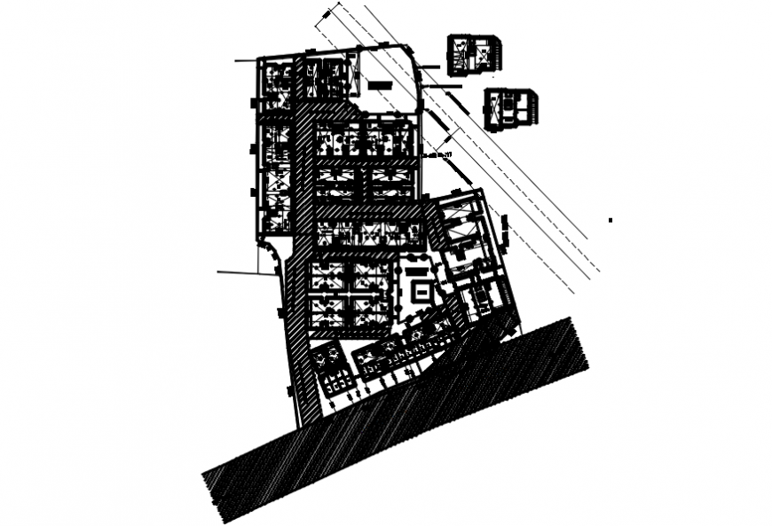 Residential building blocks site layout plan cad drawing details dwg file