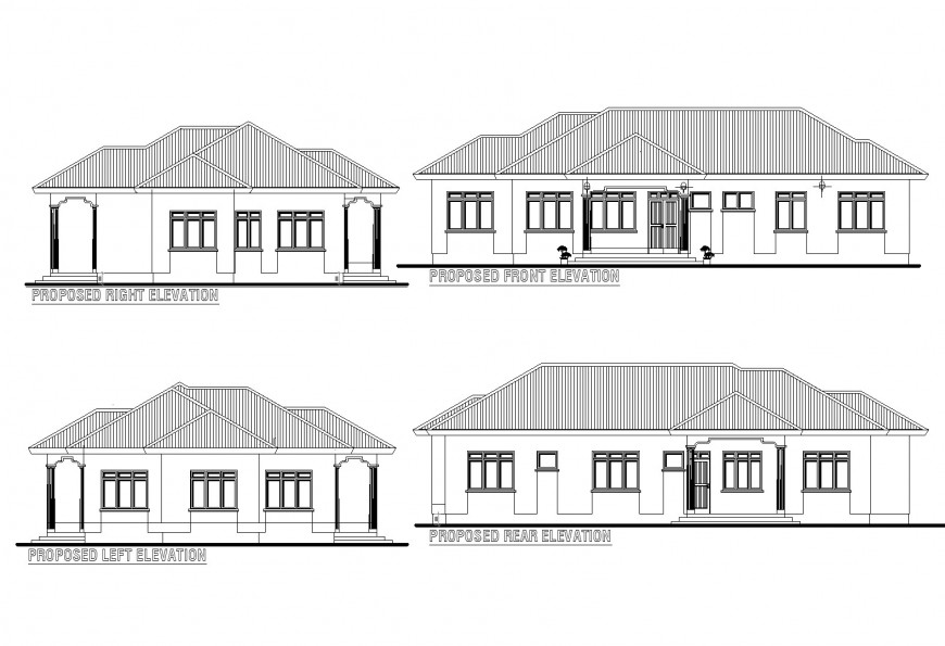 Residential building elevation layout file