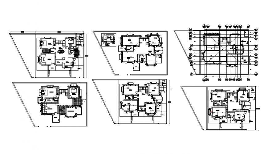 Residential building planning detail dwg file