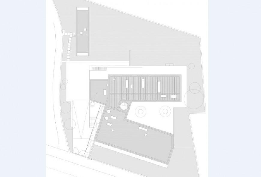 Residential bungalow floor layout plan cad drawing details jpg file