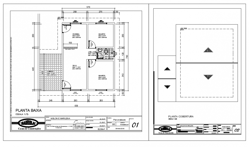 Residential Home Plan Lay-out with floor design