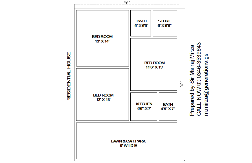 Residential house architecture layout plan details dwg file