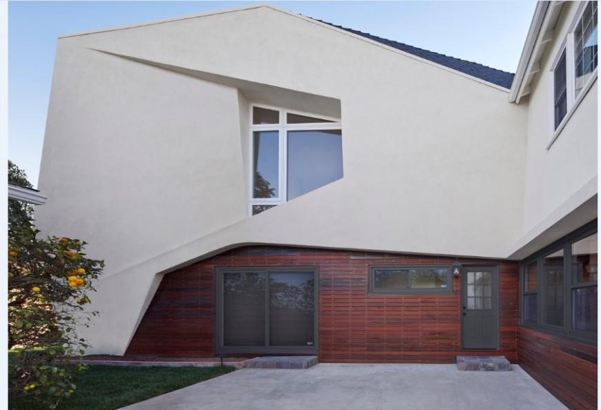 Residential house back elevation 3d model cad drawing details jpg file