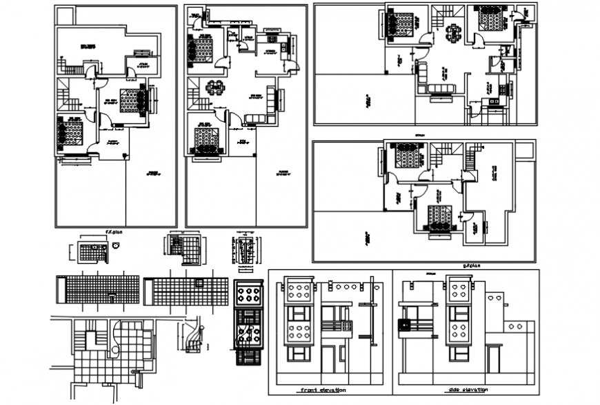 Residential house design autocad file