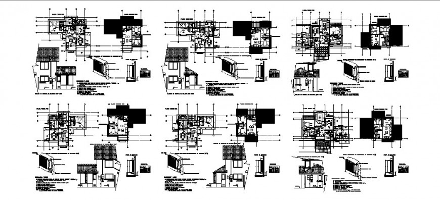 Residential house detailed architecture project in auto-cad format dwg file