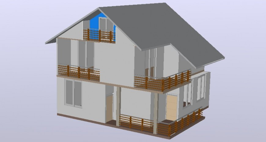 Residential house details drawings 2d view autocad file