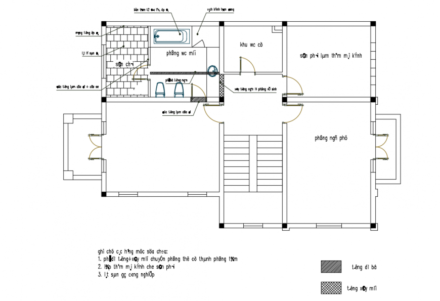 Residential House Floor Lay-out design in autocad file