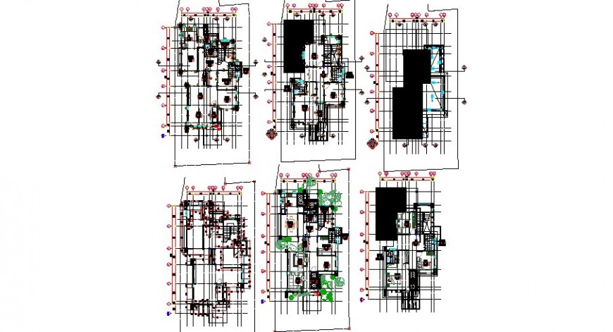 Residential house floor plan, foundation structure and auto-cad drawing details dwg file