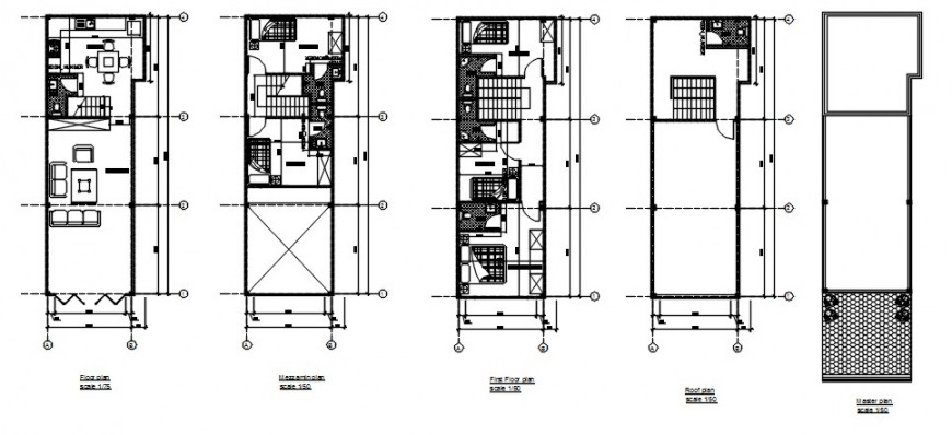 Residential house floor plan distribution 2d drawing details dwg file